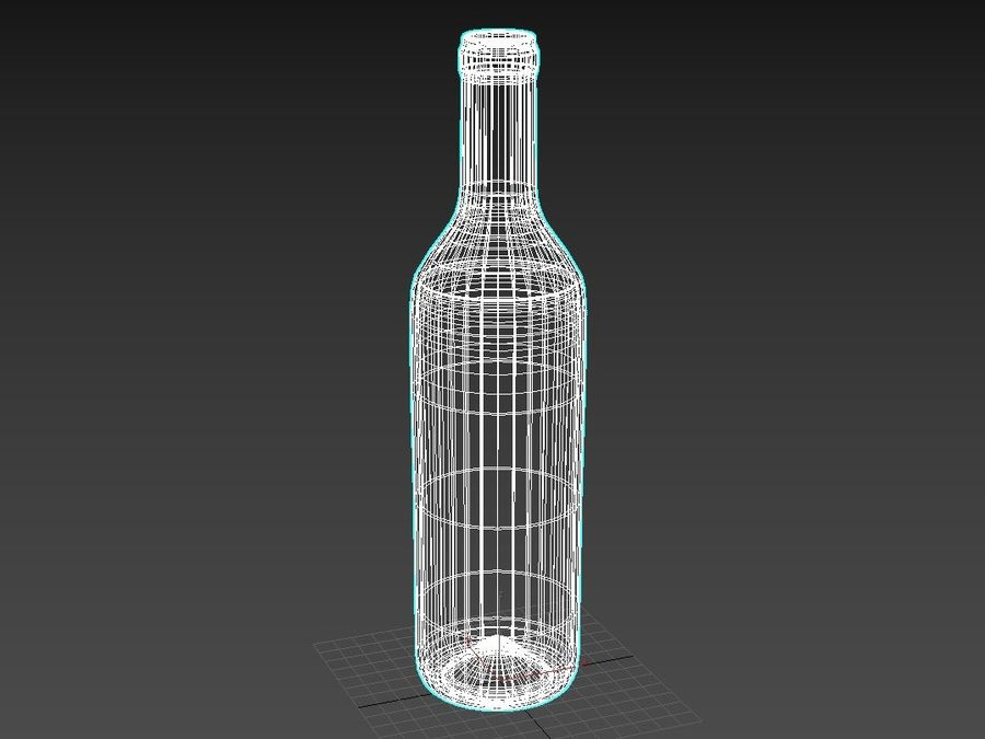 bottle glass royalty-free 3d model - Preview no. 5