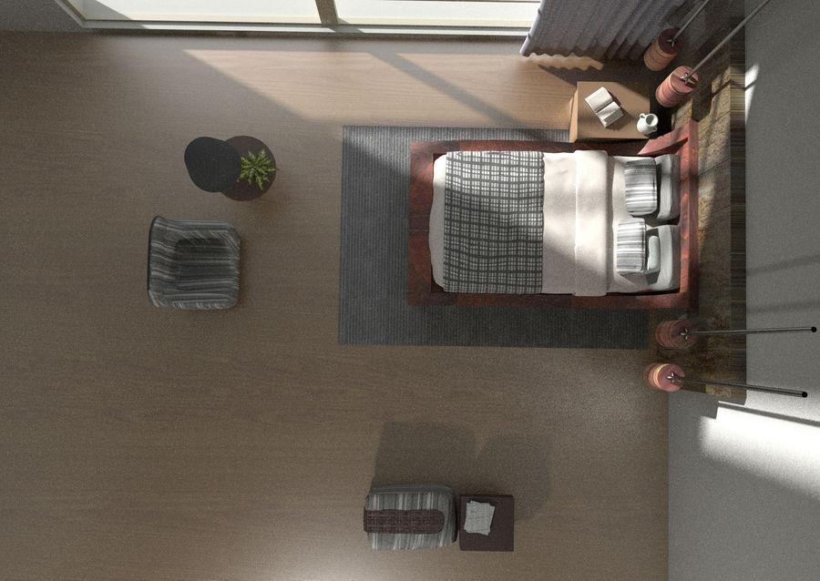 Современная спальня royalty-free 3d model - Preview no. 5