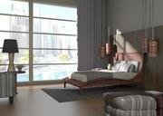 Modernt sovrum 3d model