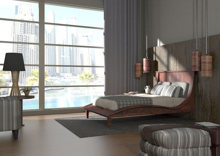 Chambre Moderne Royalty Free 3d Model   Preview No. 1