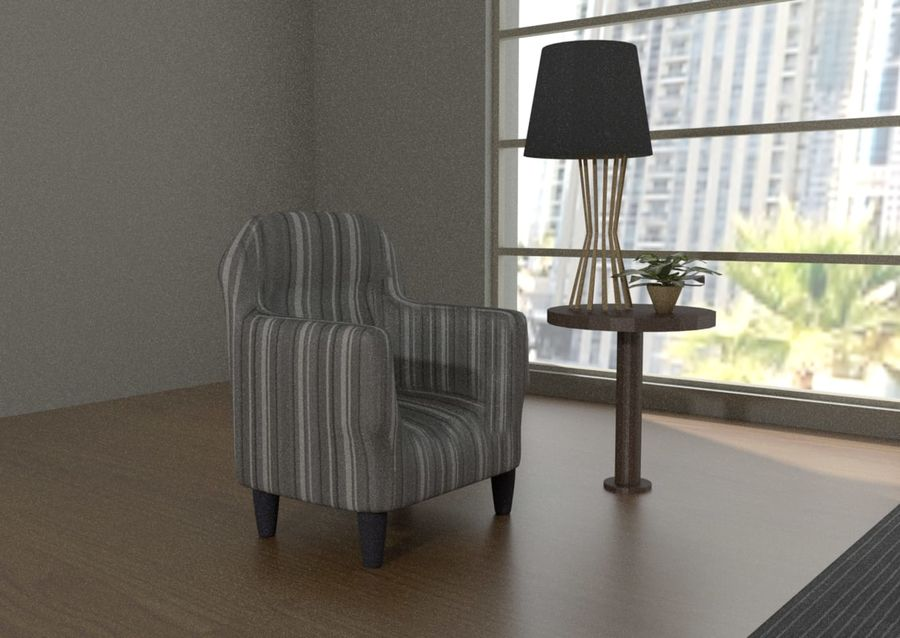 Современная спальня royalty-free 3d model - Preview no. 4