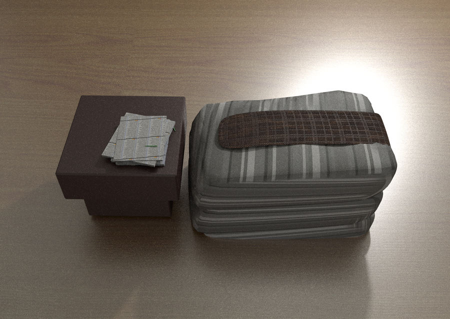 Modern bedroom royalty-free 3d model - Preview no. 3