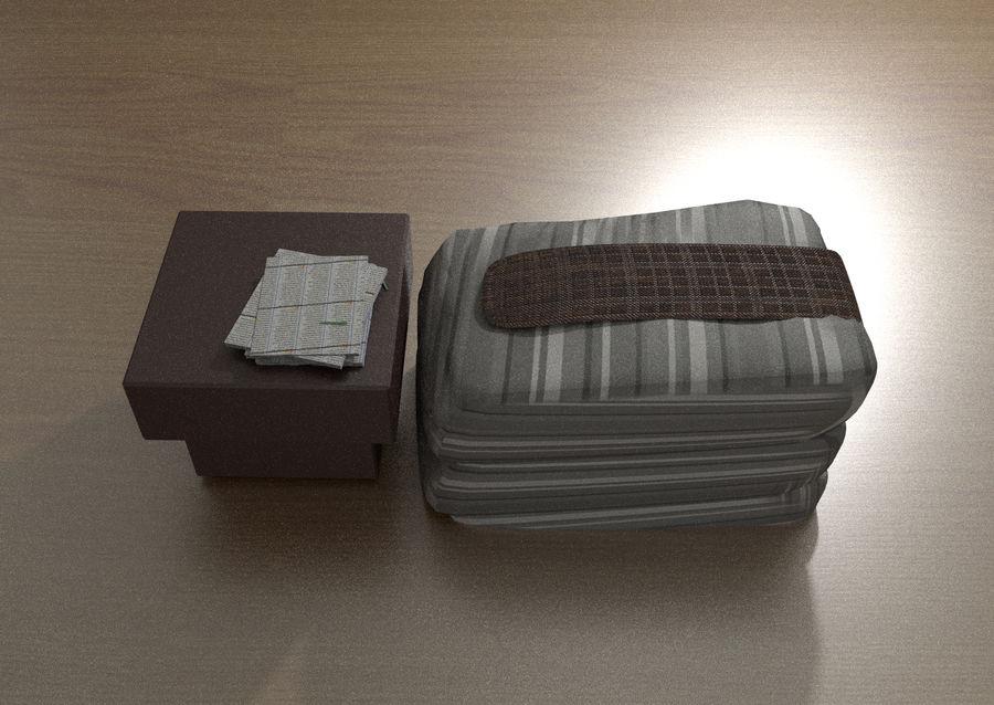 Современная спальня royalty-free 3d model - Preview no. 3