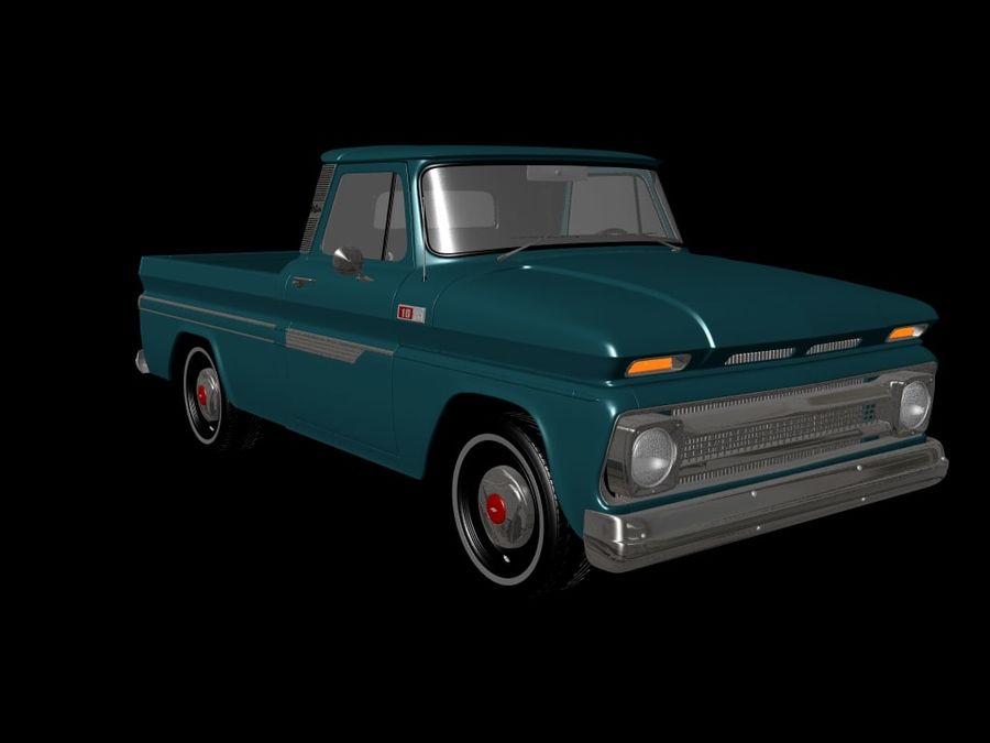 vintage truck royalty-free 3d model - Preview no. 1