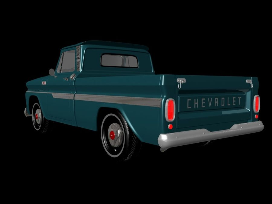 vintage truck royalty-free 3d model - Preview no. 10