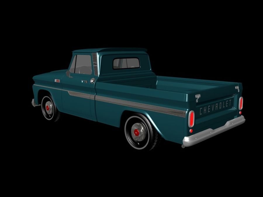 vintage truck royalty-free 3d model - Preview no. 5