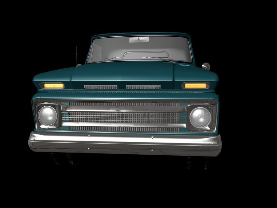 vintage truck royalty-free 3d model - Preview no. 7