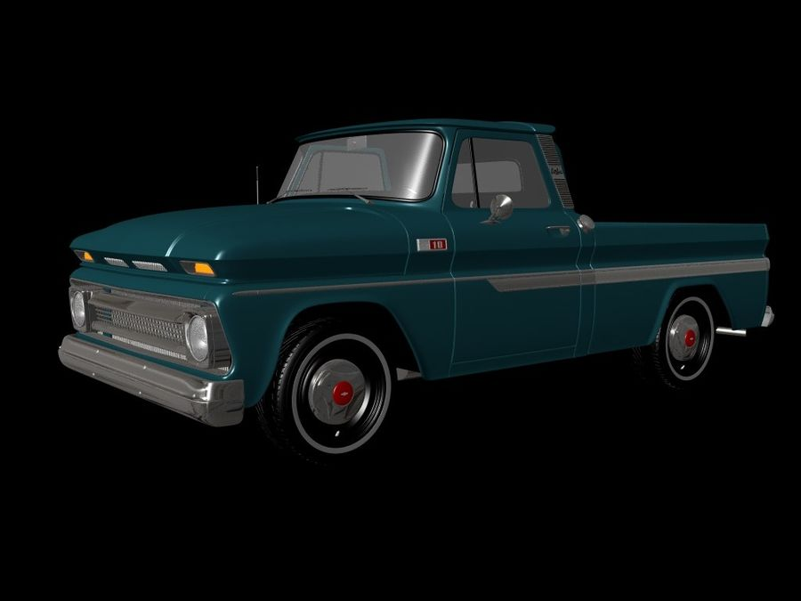 vintage truck royalty-free 3d model - Preview no. 8