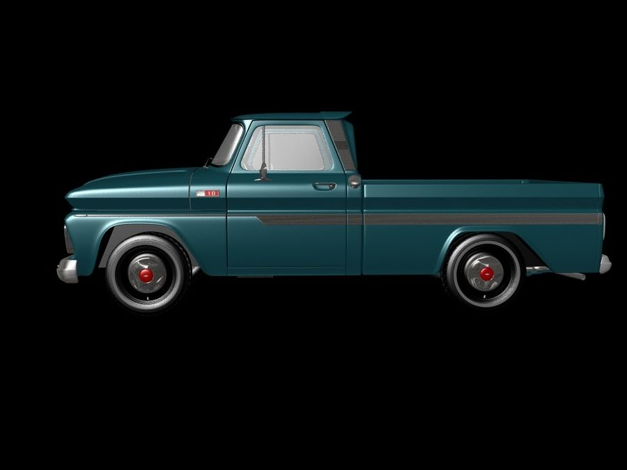 vintage truck royalty-free 3d model - Preview no. 4