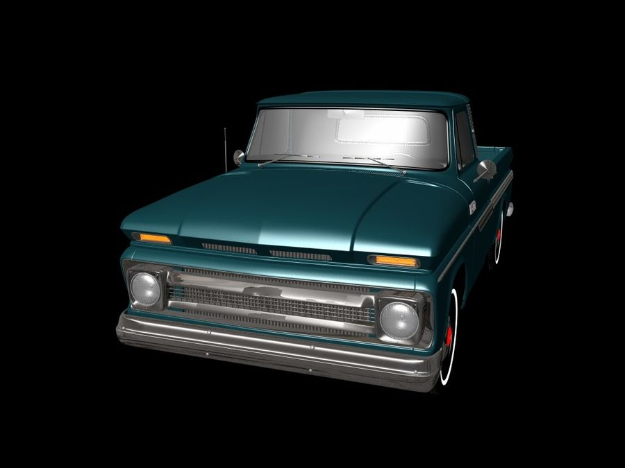 vintage truck royalty-free 3d model - Preview no. 2