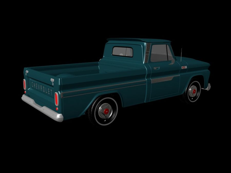 vintage truck royalty-free 3d model - Preview no. 6