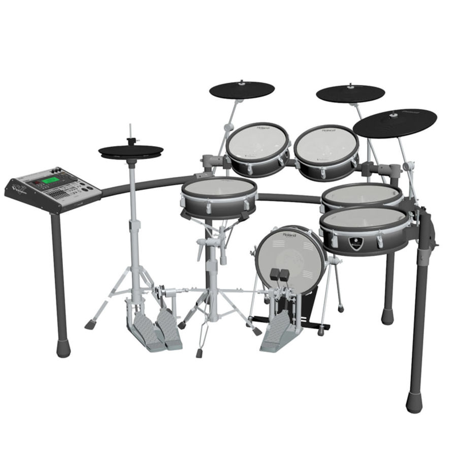Electronic Drum Kit: Roland V-Drums TD-20 3D Model $12 - .max - Free3D