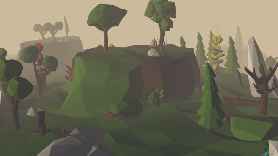 Pack Forêt LowPoly royalty-free 3d model - Preview no. 1