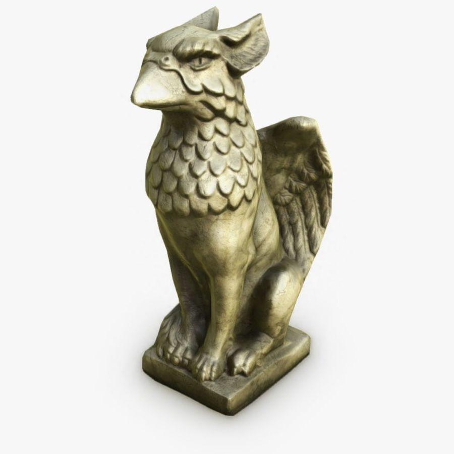Statua di Grifone royalty-free 3d model - Preview no. 1