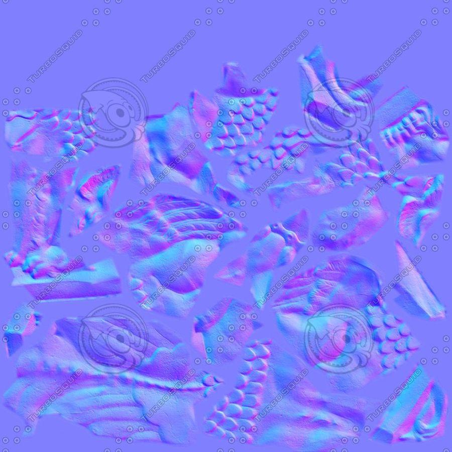Statua di Grifone royalty-free 3d model - Preview no. 5