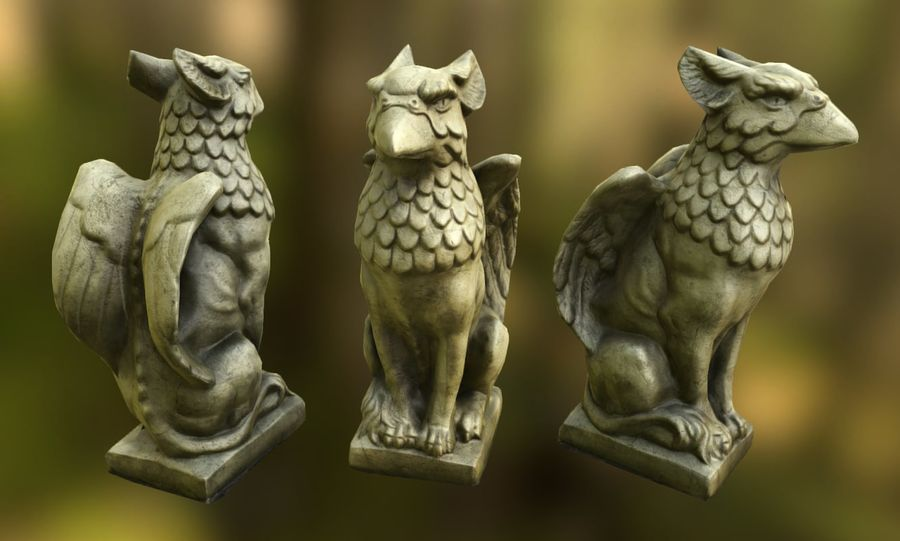 Statua di Grifone royalty-free 3d model - Preview no. 2