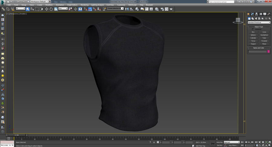 t-shirt royalty-free 3d model - Preview no. 23