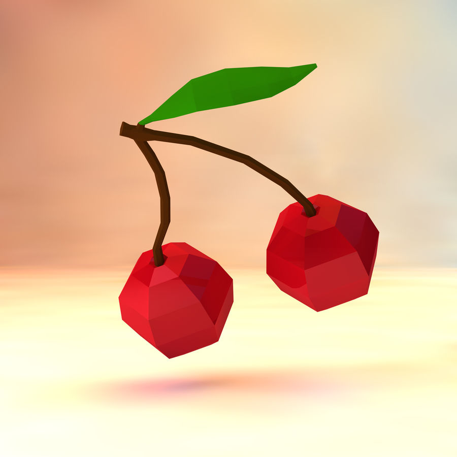 Low poly cherry (game ready) 3D Model $2 -  unknown  obj  ma