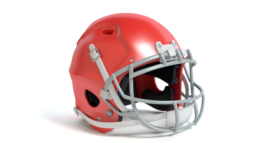 Football Helmet royalty-free 3d model - Preview no. 8