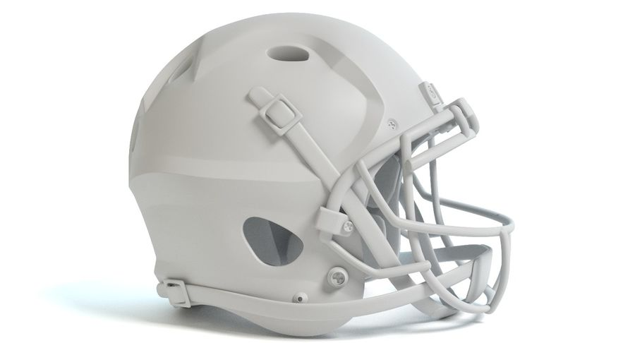 Football Helmet royalty-free 3d model - Preview no. 9