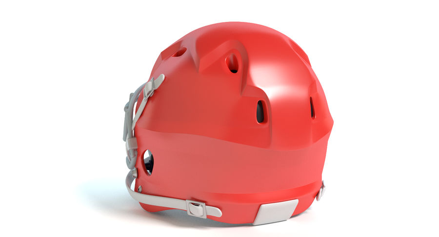 Football Helmet royalty-free 3d model - Preview no. 4