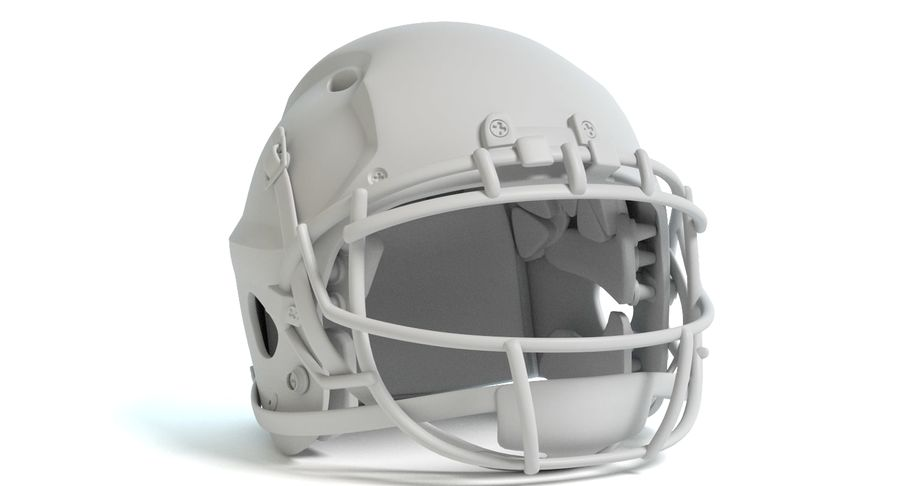 Football Helmet royalty-free 3d model - Preview no. 10