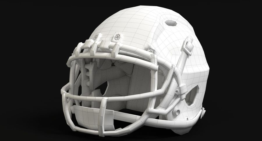 Football Helmet royalty-free 3d model - Preview no. 14