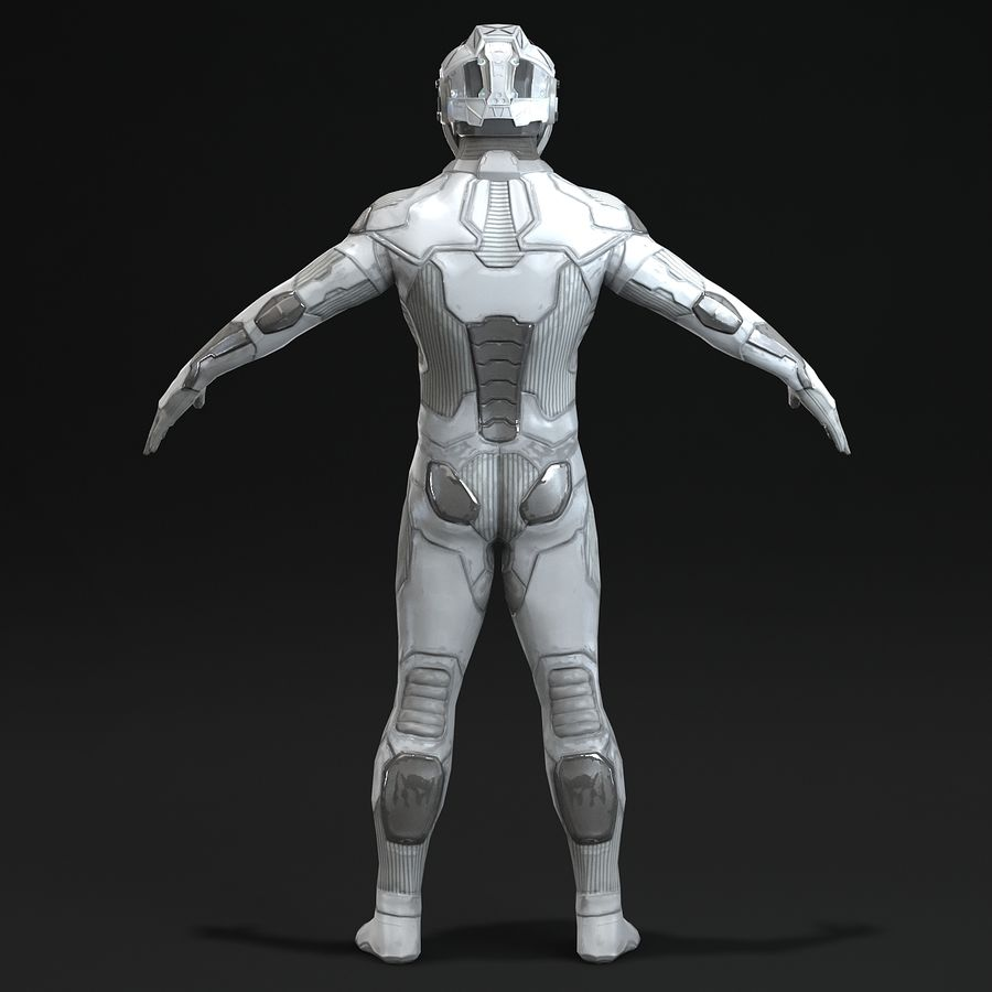 Astronaut-1(1) royalty-free 3d model - Preview no. 4
