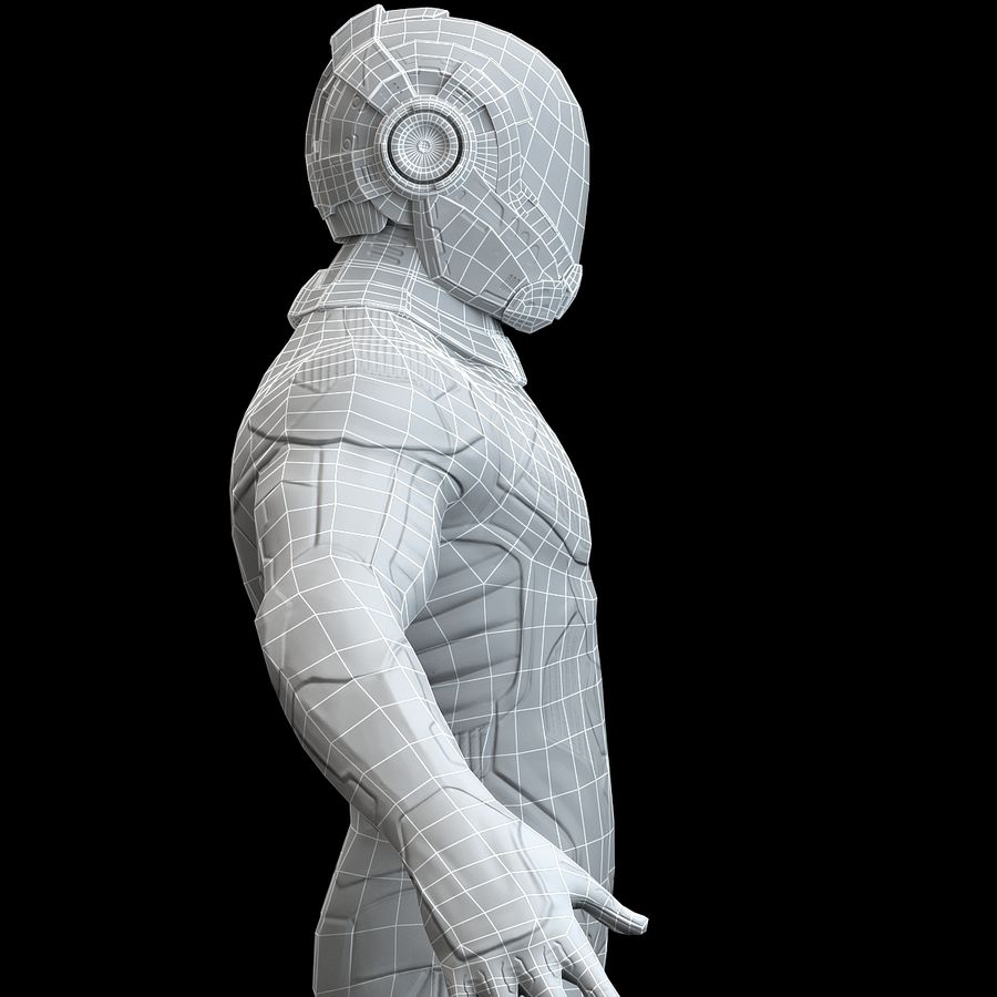 Astronaut-1(1) royalty-free 3d model - Preview no. 17