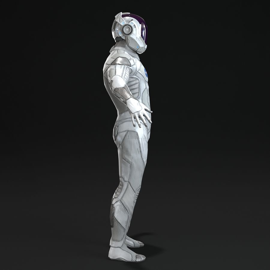 Astronaut-1(1) royalty-free 3d model - Preview no. 9