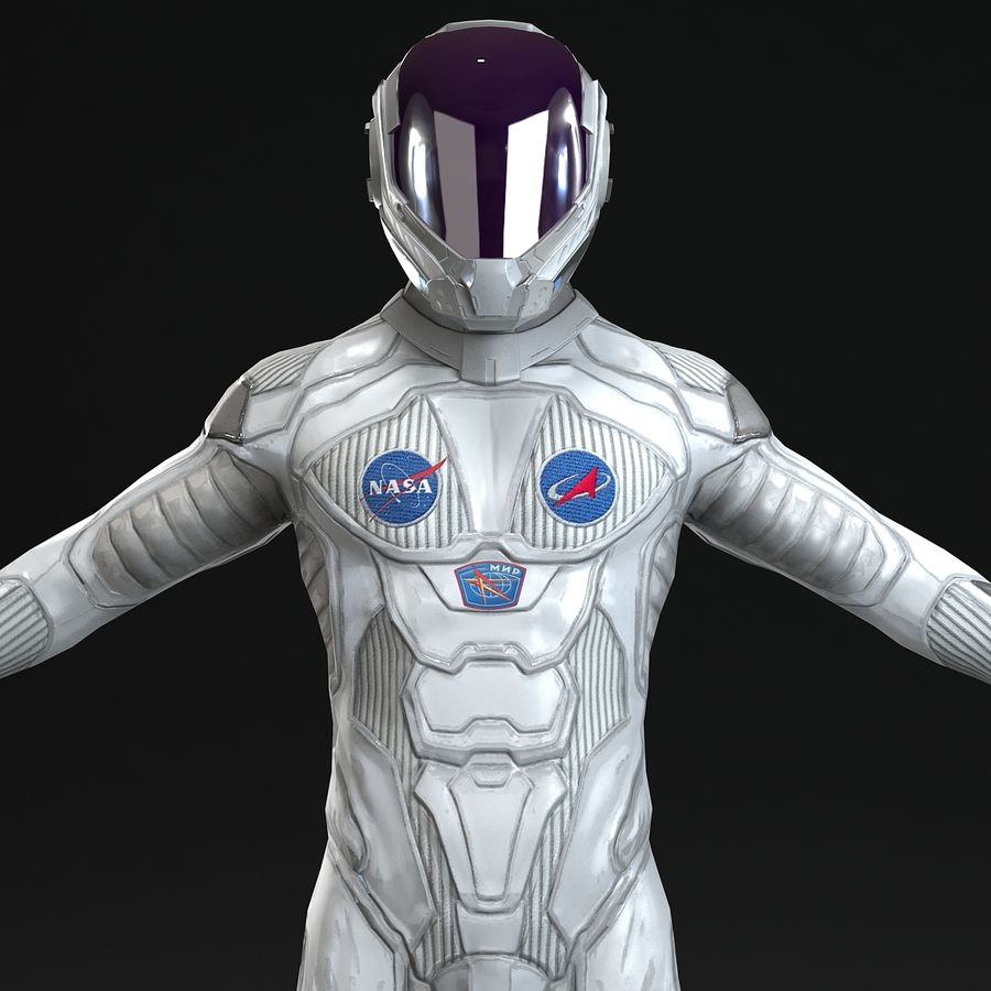 Astronaut-1(1) royalty-free 3d model - Preview no. 2