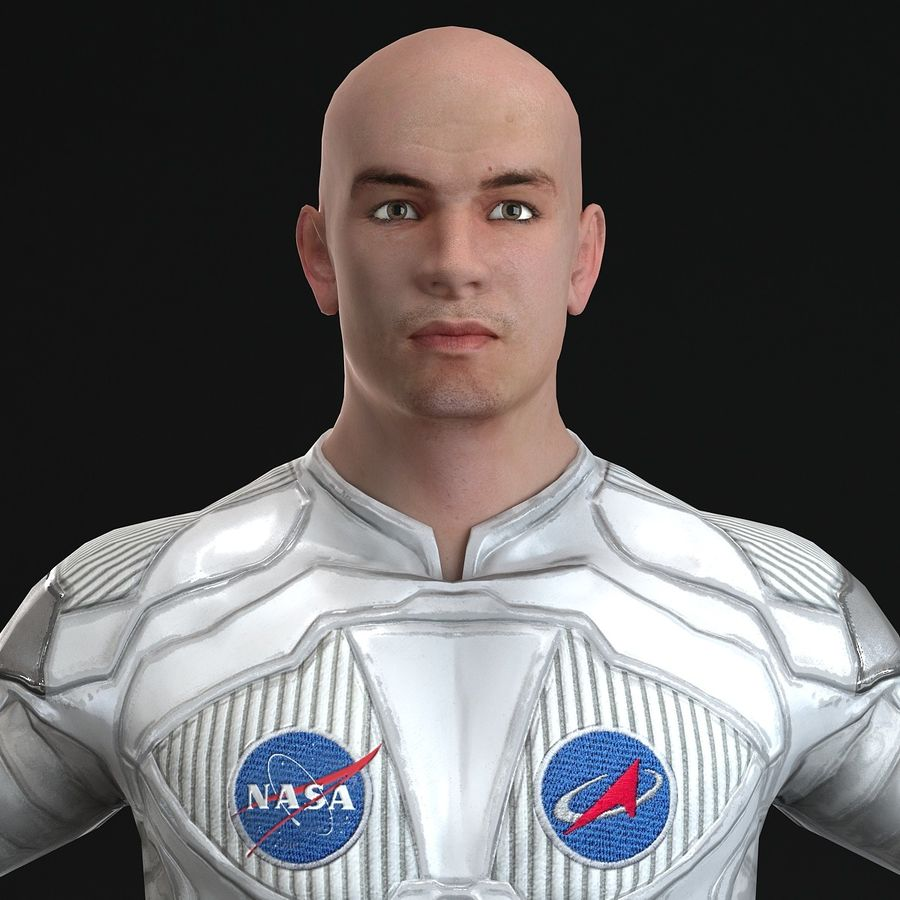 Astronaut-1(1) royalty-free 3d model - Preview no. 10