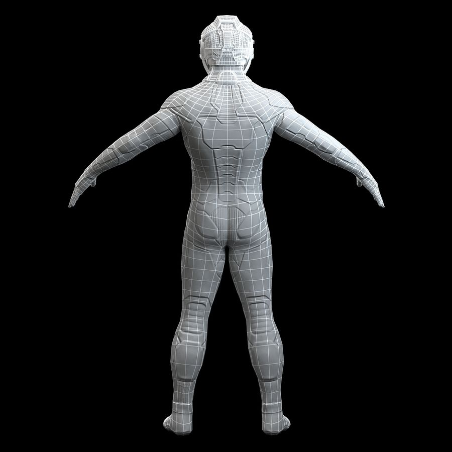 Astronaut-1(1) royalty-free 3d model - Preview no. 15