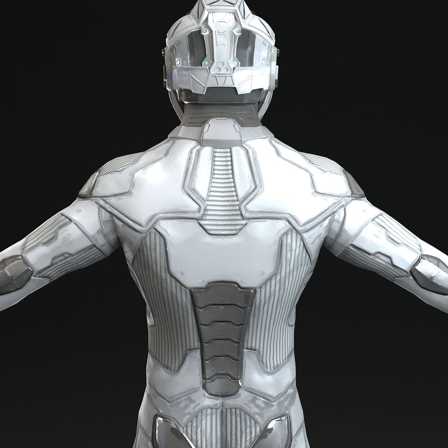 Astronaut-1(1) royalty-free 3d model - Preview no. 6