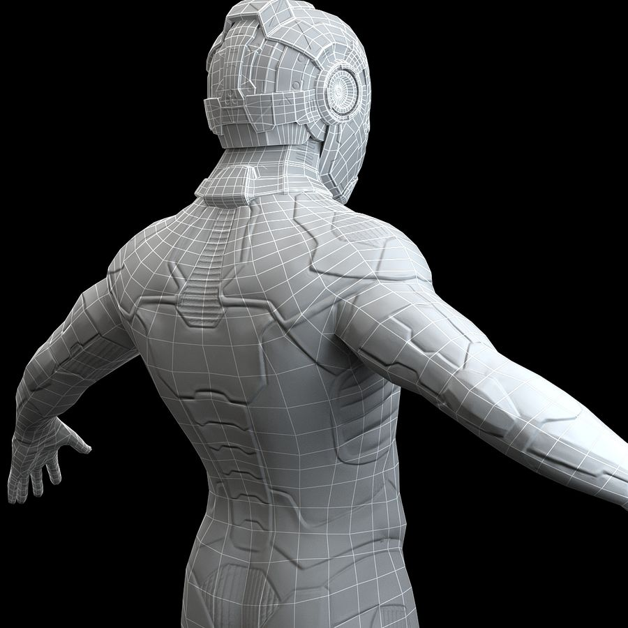 Astronaut-1(1) royalty-free 3d model - Preview no. 16