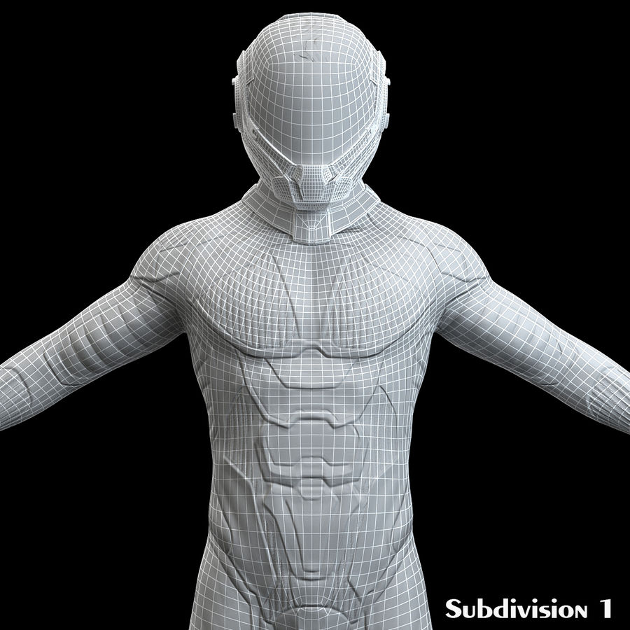 Astronaut-1(1) royalty-free 3d model - Preview no. 12