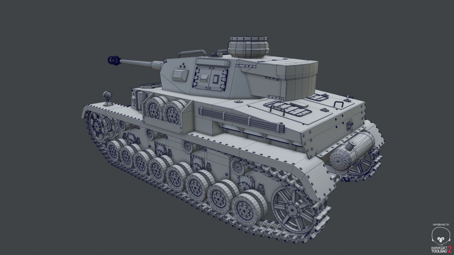 Panzer IV (High Poly) royalty-free 3d model - Preview no. 6