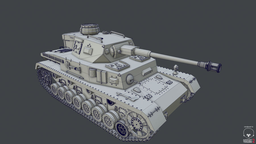 Panzer IV (High Poly) royalty-free 3d model - Preview no. 5
