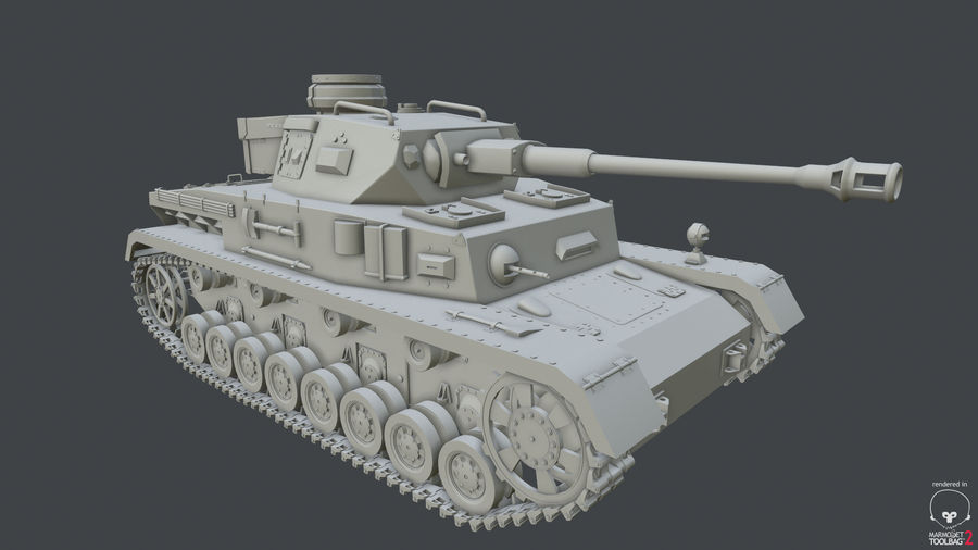 Panzer IV (High Poly) royalty-free 3d model - Preview no. 1
