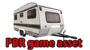 PBR lowpoly caravan 3d model