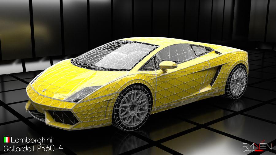 Lamborghini Gallardo LP560-4 royalty-free 3d model - Preview no. 6