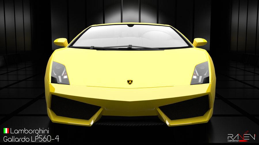 Lamborghini Gallardo LP560-4 royalty-free 3d model - Preview no. 5