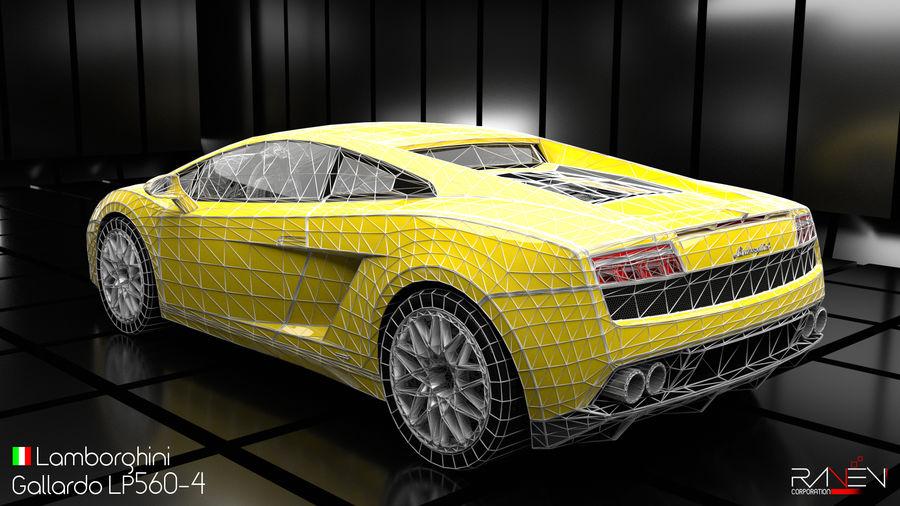 Lamborghini Gallardo LP560-4 royalty-free 3d model - Preview no. 7