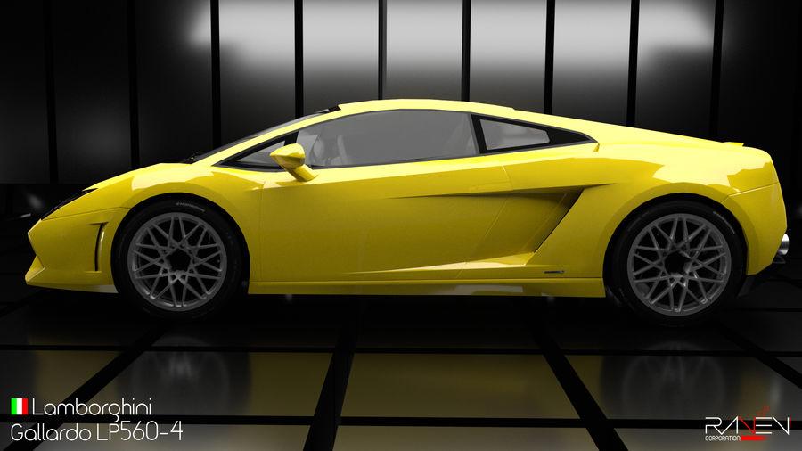 Lamborghini Gallardo LP560-4 royalty-free 3d model - Preview no. 3