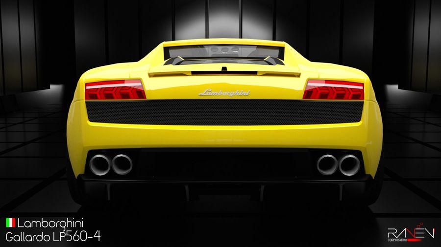 Lamborghini Gallardo LP560-4 royalty-free 3d model - Preview no. 4
