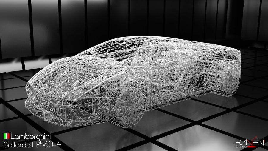 Lamborghini Gallardo LP560-4 royalty-free 3d model - Preview no. 8