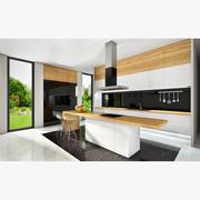 Interior kitchen modern 3d model