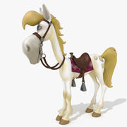 Cheval de dessin animé Jolly Jumper 3d model