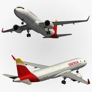 Airbus A320 Iberia modelo 3d