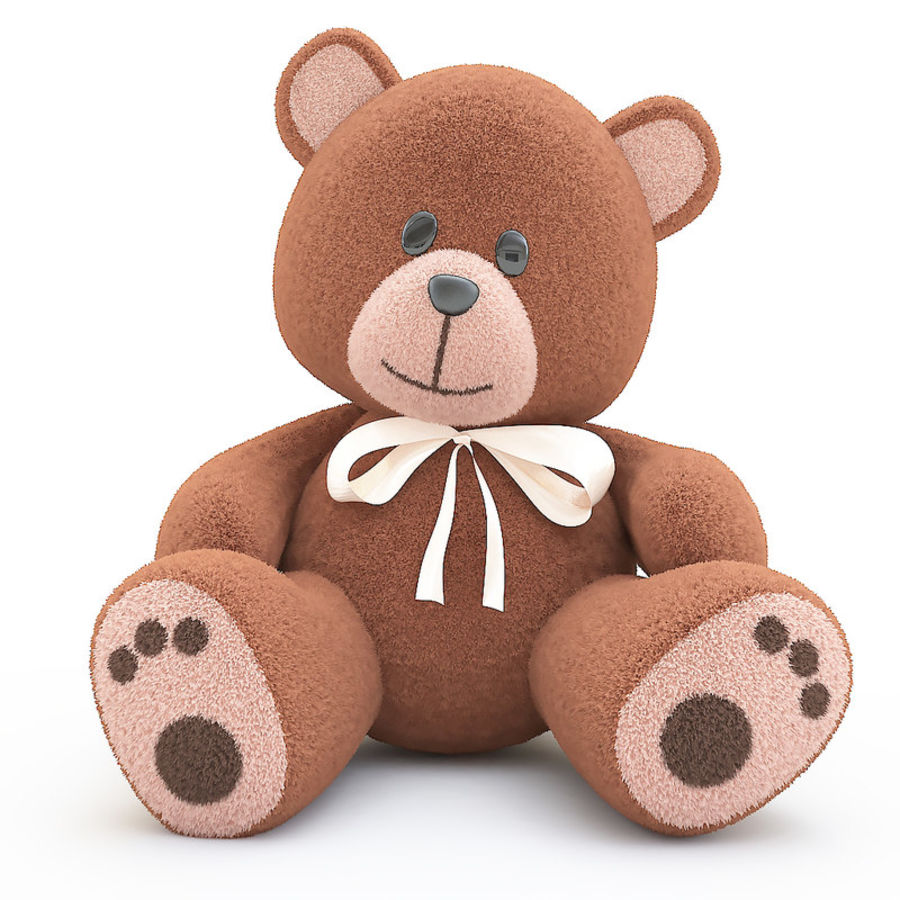 Teddy bear royalty-free 3d model - Preview no. 3